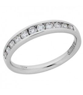 Rings - 0.33 Carat Round Brilliant Diamond Ring 18Kt White Gold