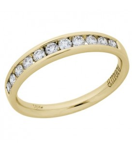 Rings - 0.33 Carat Round Brilliant Diamond Anniversary Ring 18Kt Yellow Gold