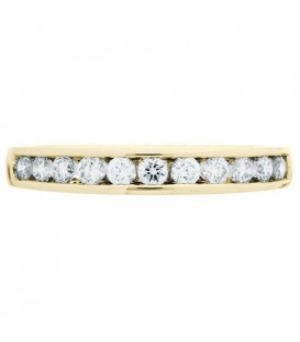 0.33 Carat Round Brilliant Diamond Anniversary Ring 18Kt Yellow Gold