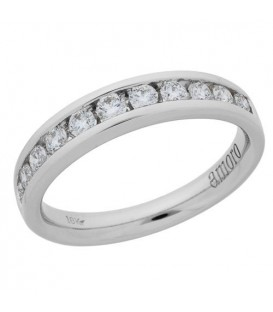 Rings - 0.50 Carat Round Brilliant Diamond Ring 18Kt White Gold