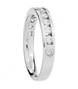 0.50 Carat Round Brilliant Eternitymark Diamond Ring 18Kt White Gold
