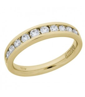 Rings - 0.51 Carat Round Brilliant Diamond Ring 18Kt Yellow Gold