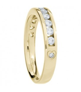 0.51 Carat Round Brilliant Diamond Ring 18Kt Yellow Gold