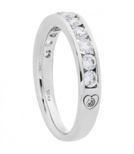 0.76 Carat Round Brilliant Eternitymark Diamond Ring 18Kt White Gold
