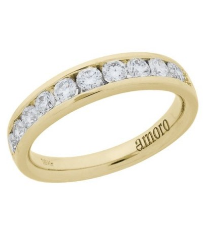 Rings - 0.76 Carat Round Brilliant Diamond Ring 18Kt Yellow Gold