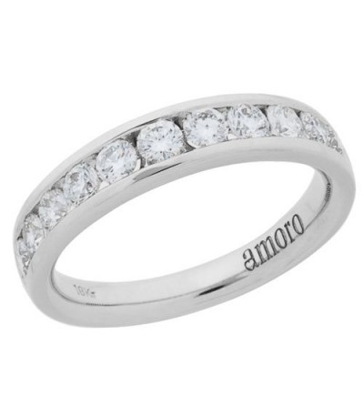 Rings - 1.01 Carat Round Brilliant Diamond Ring 18Kt White Gold