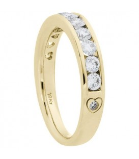 1.01 Carat Round Brilliant Diamond Ring 18Kt Yellow Gold