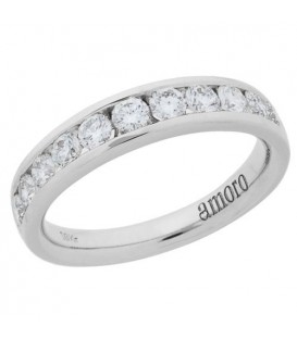 Rings - 1.51 Carat Round Brilliant 18Kt White Gold Diamond Ring