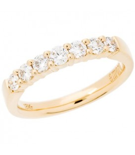 0.50 Carat Round Brilliant Eternitymark Diamond Ring 18Kt Yellow Gold
