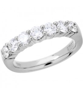 Rings - 1 Carat Round Brilliant Diamond Ring 18Kt White Gold