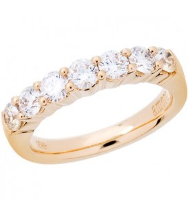 Rings - 1 Carat Round Brilliant Diamond Ring 18Kt Yellow Gold
