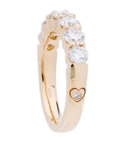 1 Carat Round Brilliant Eternitymark Diamond Ring 18Kt Yellow Gold