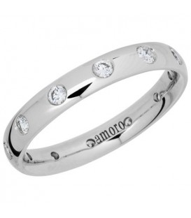 More about 0.40 Carat Round Brilliant Diamond Eternity Ring 18Kt White Gold
