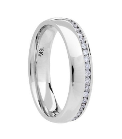 0.39 Carat Round Brilliant Diamond Eternity Ring 18Kt White Gold
