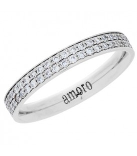 Rings - 0.55 Carat Round Brilliant Diamond Eternity Band 18Kt White Gold