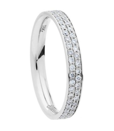 0.55 Carat Round Brilliant Diamond Eternity Ring 18Kt White Gold