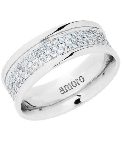 Rings - 0.83 Carat Round Brilliant Diamond Eternity Band 18Kt White Gold