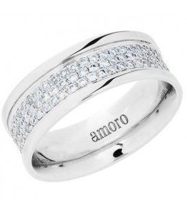 0.83 Carat Round Brilliant Diamond Eternity Ring 18Kt White Gold
