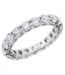 More about 2.85 Carat Round Brilliant Diamond Eternity Ring 18Kt White Gold