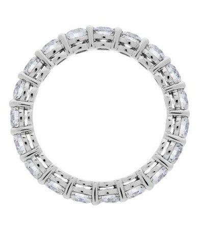 2.85 Carat Round Brilliant Diamond Eternity Ring 18Kt White Gold