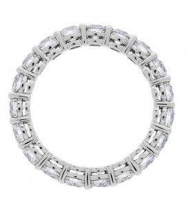 2.85 Carat Round Brilliant Diamond Eternity Band 18Kt White Gold