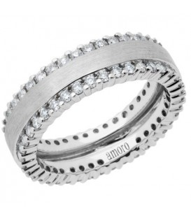 1.14 Carat Round Brilliant Diamond Eternity Ring 18Kt White Gold