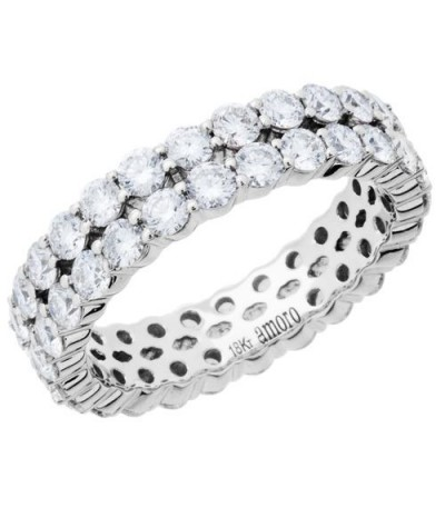 Rings - 2.65 Carat Round Brilliant Diamond Eternity Band 18Kt White Gold