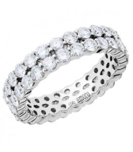 More about 2.65 Carat Round Brilliant Diamond Eternity Ring 18Kt White Gold