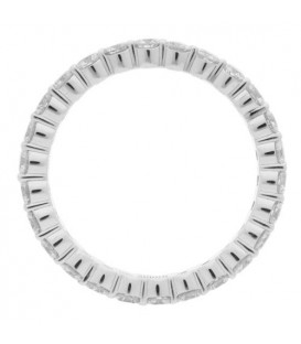 2.65 Carat Round Brilliant Diamond Eternity Band 18Kt White Gold
