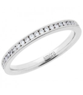 Rings - 0.33 Carat Round Brilliant Diamond Eternity Band 18Kt White Gold