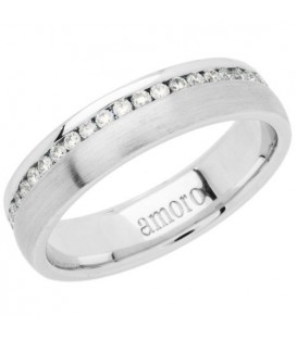 Rings - 0.39 Carat Round Brilliant Diamond Eternity Band 18Kt White Gold
