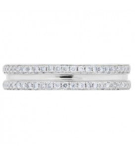 0.53 Carat Round Brilliant Diamond Eternity Band 18Kt White Gold