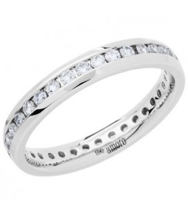 Rings - 0.62 Carat Round Brilliant Diamond Eternity Band 18Kt White Gold