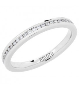 Rings - 0.27 Carat Round Brilliant Diamond Eternity Band 18Kt White Gold