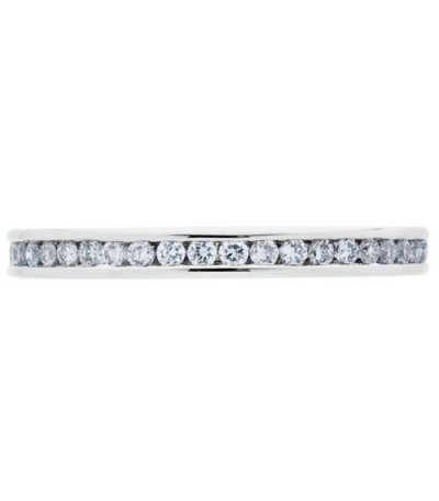 0.47 Carat Round Brilliant Diamond Eternity Ring 18Kt White Gold