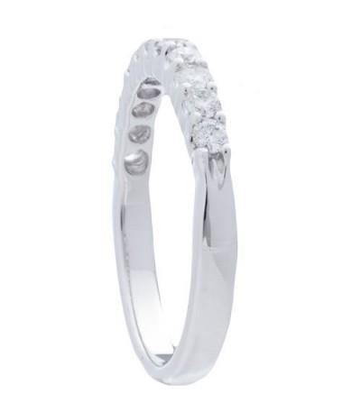 0.50 Carat Round Brilliant Diamond Band 18Kt White Gold