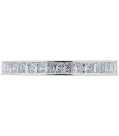 1.55 Carat Princess Cut Diamond Eternity Ring 18Kt White Gold