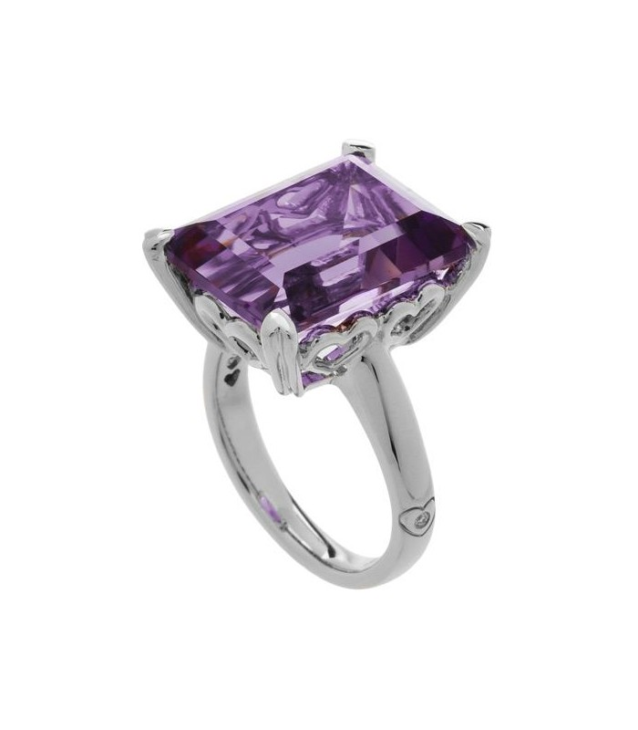 amethyst cluster ring white gold jewellery image oval gemstone rings diamond cut