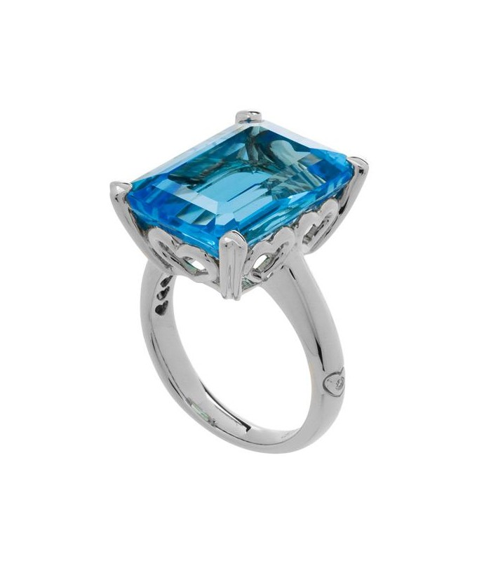 ring gemstone with genuine australian gold rings and opal topaz natural flashopal trillion blue