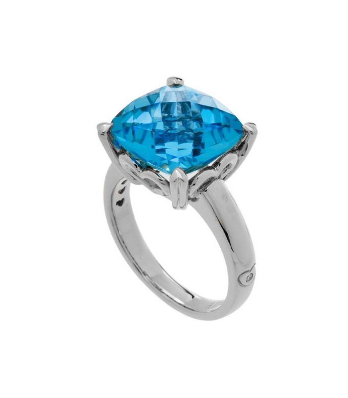 stackingring eternity deco white gold art solid blue ring topaz half swiss wedding rings