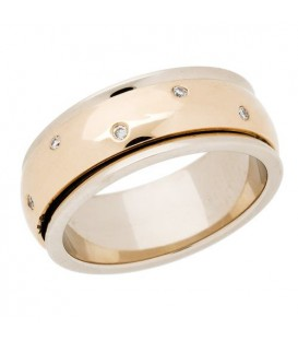0.12 Carat Round Brilliant Diamond Band 14Kt Yellow Gold