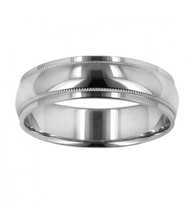 Rings - Mens 6mm Domed Band 18Kt White Gold