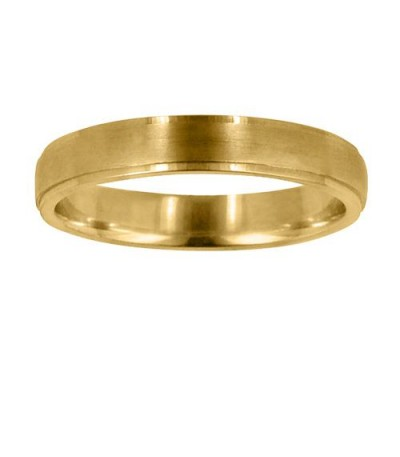Rings - Mens 6mm Plain Wedding Band 18Kt Yellow Gold