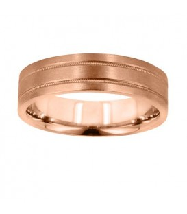 Rings - Mens 6mm Flat Band 18Kt Rose Gold