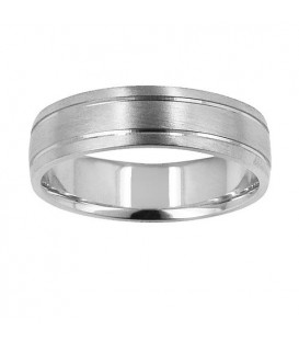 More about Mens 6mm Buff Band 18Kt White Gold