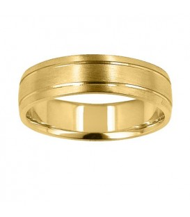Rings - Mens 6mm Buff Band 18Kt Yellow Gold