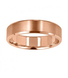 Rings - Mens 6mm Bevelled Band 18Kt Rose Gold