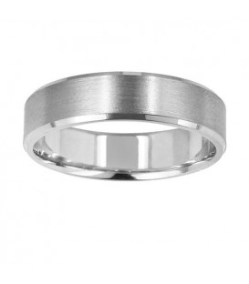 Rings - Mens 6mm Bevelled Band 18Kt White Gold