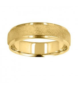 Mens 6mm Dimpled Band 18Kt Yellow Gold