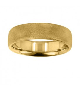Mens 6mm Dimpled Matte Band 18Kt Yellow Gold